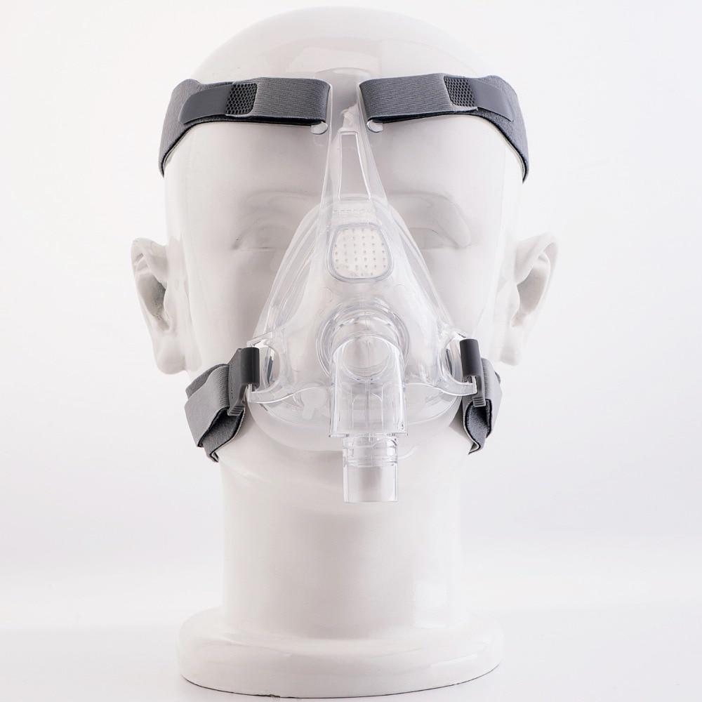 MOYEAH CPAP машинная маска, маска на все лицо с регулируемым ремешком для головного убора, клипса для лечения апноэ во время сна, против храпа