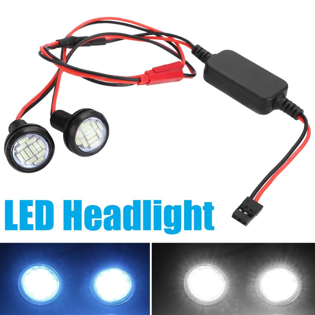 2Pcs/set 3V-12V LED 2W Front Light Headlight Spotlight Blue White Front Lights For 1:10 RC Car Accessories