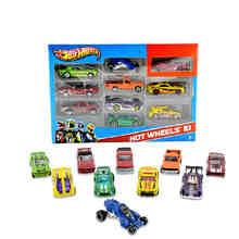 Hot Wheels track ESS BSC 10-Car Pack 1: 64 мини-модель автомобиля детские игрушки для детей Diecast Brinquedos Hotwheels подарок на день рождения 54886