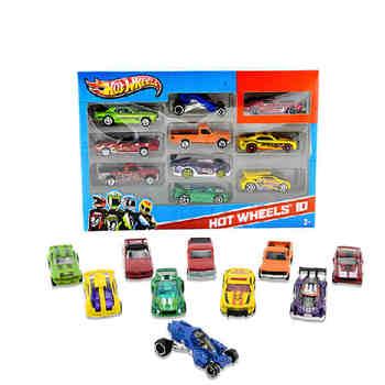 Hot Wheels track ESS BSC 10-Car Pack 1 64 Mini Model samochodu dzieci zabawki dla dzieci Diecast Brinquedos Hotwheels prezent urodzinowy 54886 tanie i dobre opinie Metal 3 lat 54486 1 20 Samochód car toy 1 18 kids toys model car 1 24