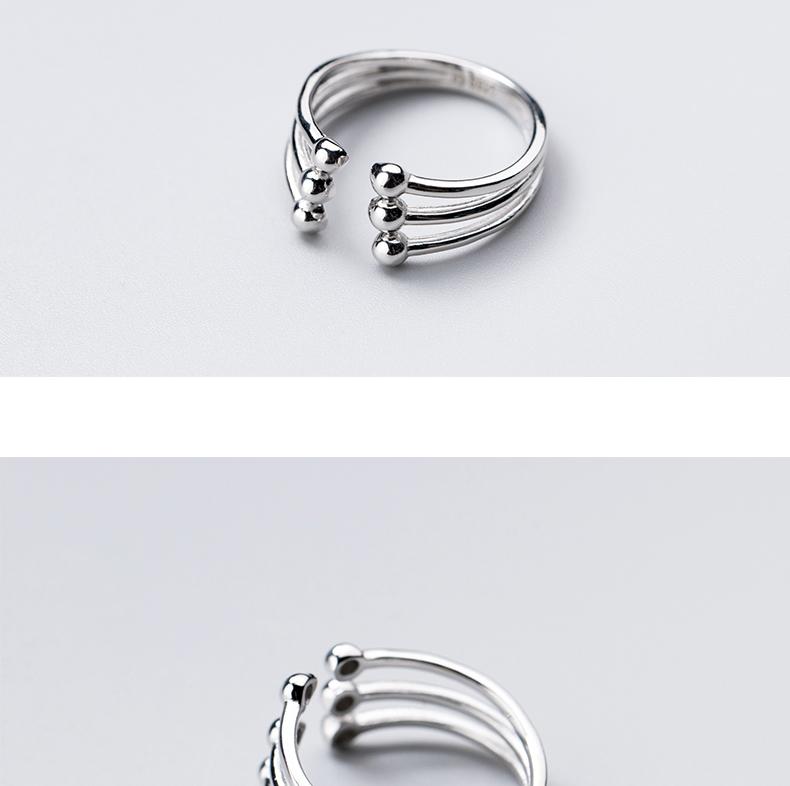 Модное глянцевое многослойное кольцо ginin из серебра 925 пробы