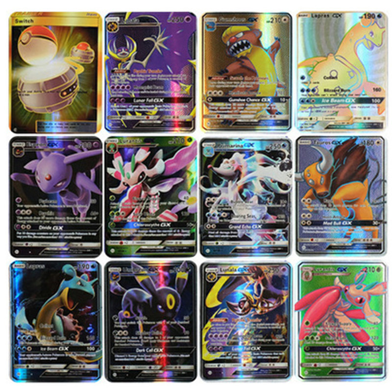 New 200 Non-repeating GX Flash Cards B Giant Cards Pokemon EX Card Cards Pokémon Pokemon Flash Cards High Quality Children's Toy