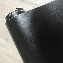3D pvc diyカースタイリング内装ダッシュボードステッカー黒革の質感トリムビニールラップシートフィルムステッカー10/20/30/40/50X152CM