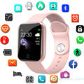 Модные светодиодные детские наручные часы фитнес-трекер цветной экран часы детские цифровые часы детские наручные часы для девочек и мальч...