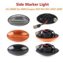 2x12 فولت تدفق الجانب مكرر مصباح ديناميكية LED الجانب ماركر ضوء مصباح لوحة خطأ مجاني لسيارات BMW MINI كوبر R50 R52 R53 2002 2008
