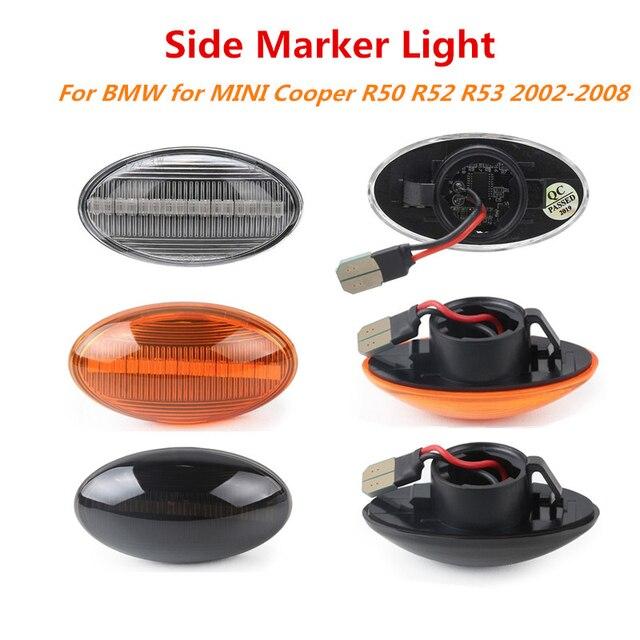 2x12V lampada ripetitore laterale scorrevole LED dinamico indicatore laterale lampada pannello lampada senza errori per BMW MINI Cooper R50 R52 R53 2002 2008