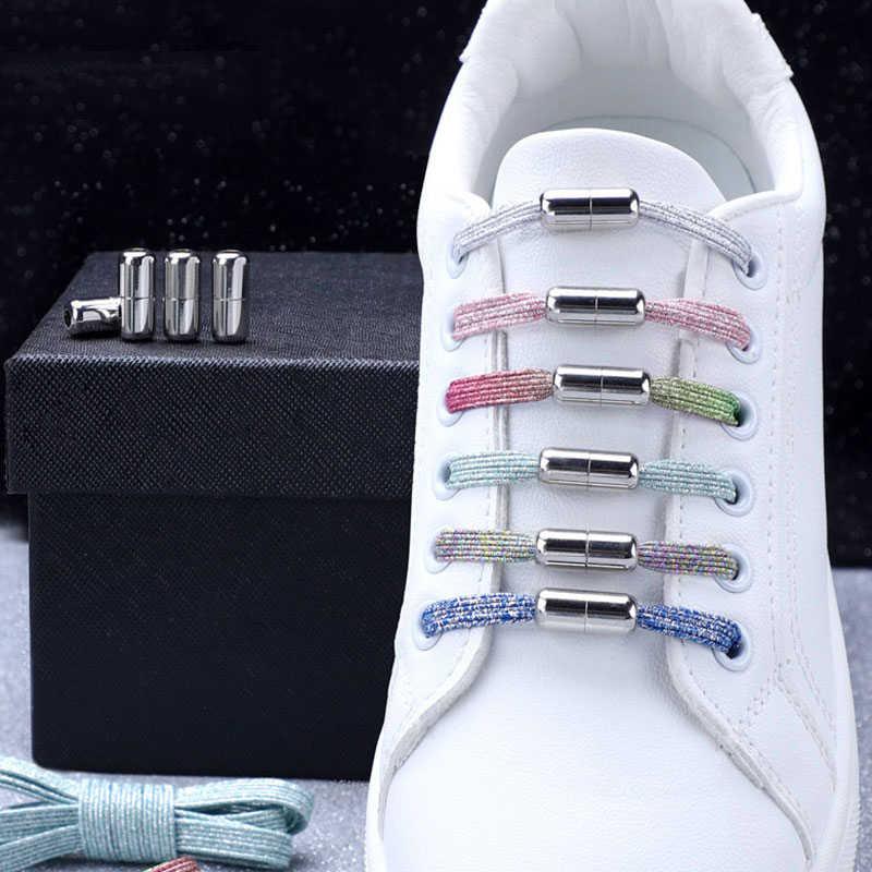 ใหม่แม่เหล็กShoeLaces Elastic Lockingเชือกผูกรองเท้าพิเศษความคิดสร้างสรรค์ไม่มีTieรองเท้าเด็กผู้ใหญ่Unisexรองเท้าผ้าใบLaces Strings