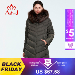 Astrid 2019 Winter new arrival down jacket women with a fur collar loose clothing outerwear quality women winter coat FR-2160