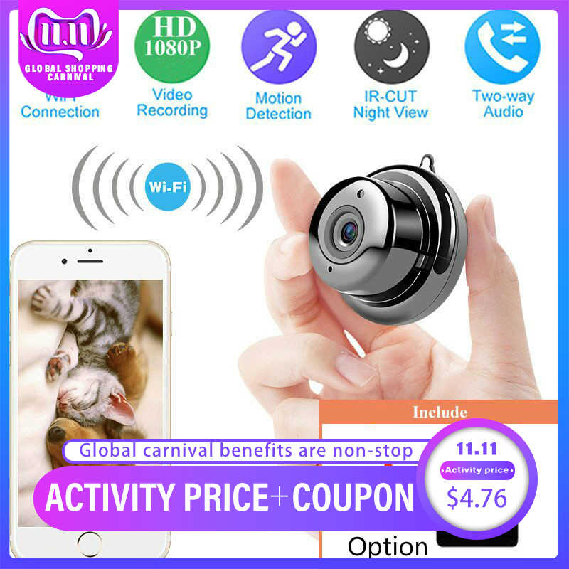 Wireless IP Camera HD 1080P Mini Wifi Camera Network P2P Baby Monitor  CCTV Security Video Camera Two Way 6 IR leds Nightvision