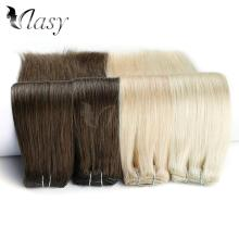 "Vlasy 20"" 7pcs/set Remy Clip On Extensions Seamless Straight Double Drawn Clip In Human Hair Extensions 130g/pc 16 clips"