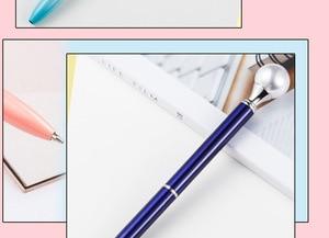 Image 3 - 500 pces/lote de diamante caneta grande gem cristal presente caneta pérola presente caneta feriado dhl entrega gratuita
