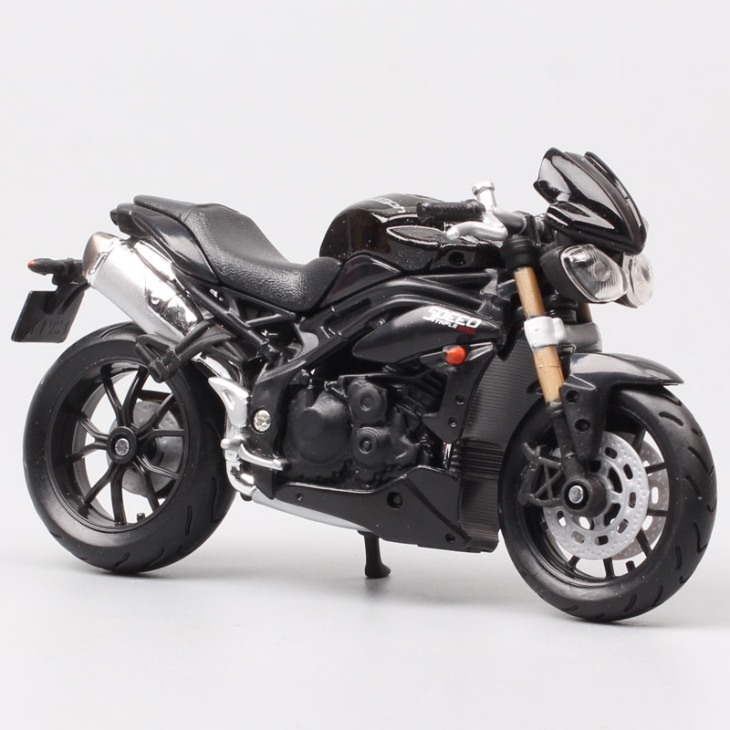 1/18 Scale Small Bburago 2011 Triumph ST Speed Triple Tiger 1050 Streetfighter Sport Bike Motorcycle Diecasts Vehicles Toy Kids