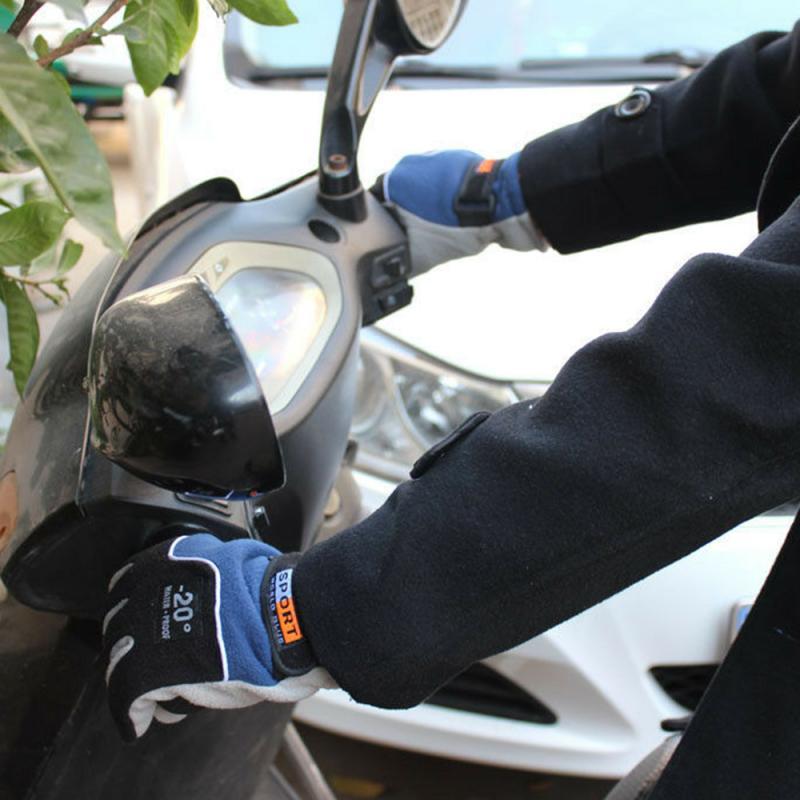 Motorrad Handschuhe Winter Schnee Sport Thermische Warme Fleece Motorrad Handschuhe Ski Snowboard Motocross Reiten Handschuhe Schutz Gears