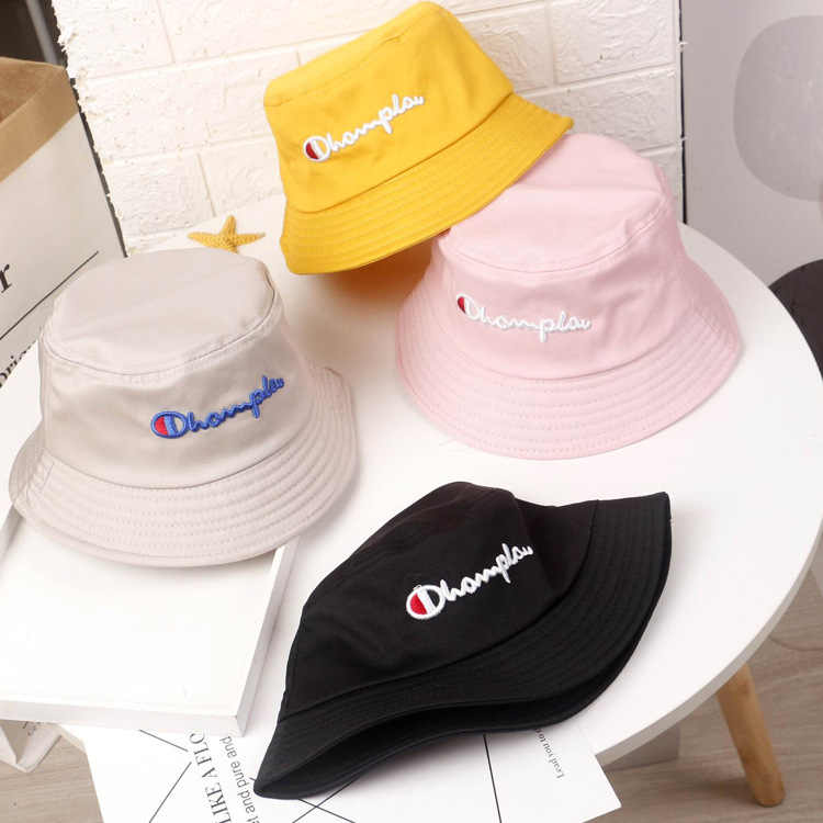Brand Bucket Hat Embroidered Letter Cotton Hat For Men And Women Autumn Summer Sun Visor Cap Tide Leisure Fashion Basin Hat