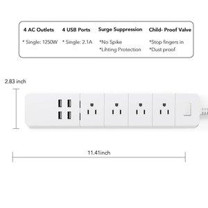 Image 2 - Power Strip Wifiสมาร์ทOutlets Surge Protector 4 USปลั๊กACซ็อกเก็ตUSB Homekit 1.8Mสำหรับสายไฟสำหรับalexa Google Home