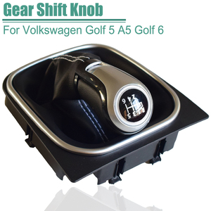 For VW Golf 6 Golf 5 A5 MK5 GTI GTD R32 2004-2008 Scirocco MT 5 6 Speed Gear Shift Knob Shifter Lever Gaiter Boot Cover Collar