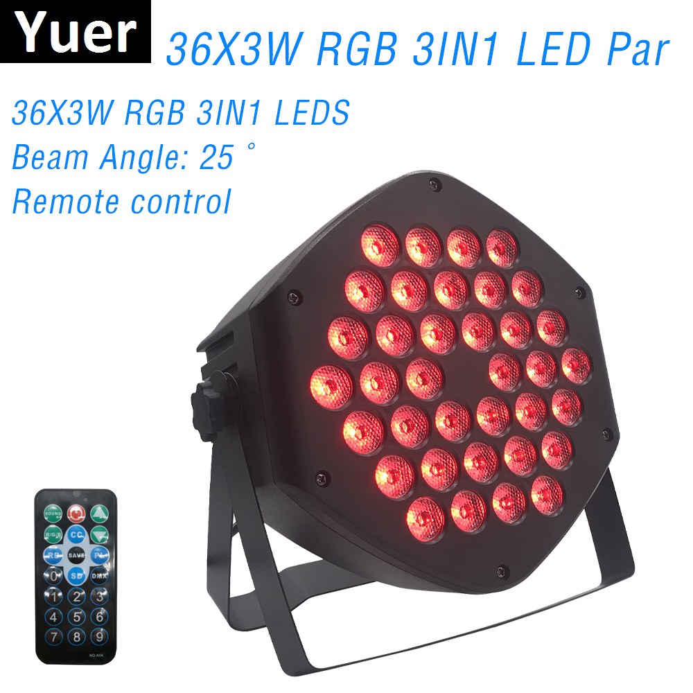 LED Par Lights 36X3W DJ LED RGB Par Lights RGB 3IN1 Wash Disco Light DMX Controller Effect For Small Paty KTV Stage Lighting