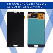 สำหรับ SAMSUNG Galaxy A5 2016 A510 LCD AMOLED หน้าจอ + Digitizer แผงสัมผัสสำหรับ SAMSUNG จอแสดงผลเดิม