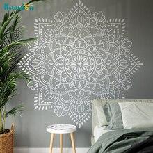 Mandala Vinyl Wall Art Decal Meditation Yoga Studio Decoration Large Flower Mandala Bedroom Living Room Decor Wallpaper BA699-1