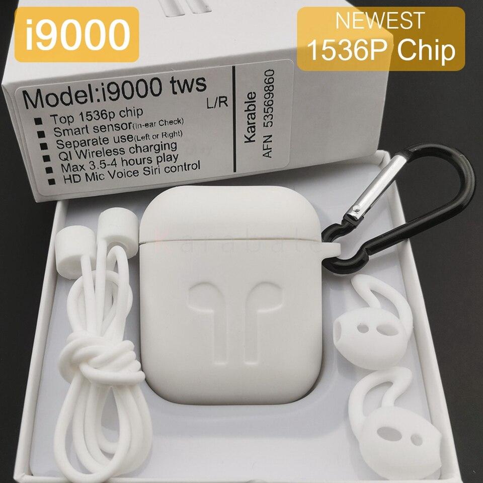 I9000 Tws Smart Sensor Wireless Bluetooth Earphones 8D Stereo Super Bass 1536P PK H1 Chip I6000 I200 I800 I2000 I5000 TWS Ios13