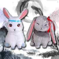 Mo Dao Zu Shi Wei Wuxian Lan Wangji Pet Kaninchen Plüsch Spielzeug Cosplay Männer Frauen Großmeister von Dämonische Anbau plüsch spielzeug BJYXSZD