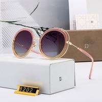 New Sunglasses women 2019 Vintage Round Oversized Sunglasses Women Brand Designer Metal Frame Lady Sun Glasses Lady Cool Retro