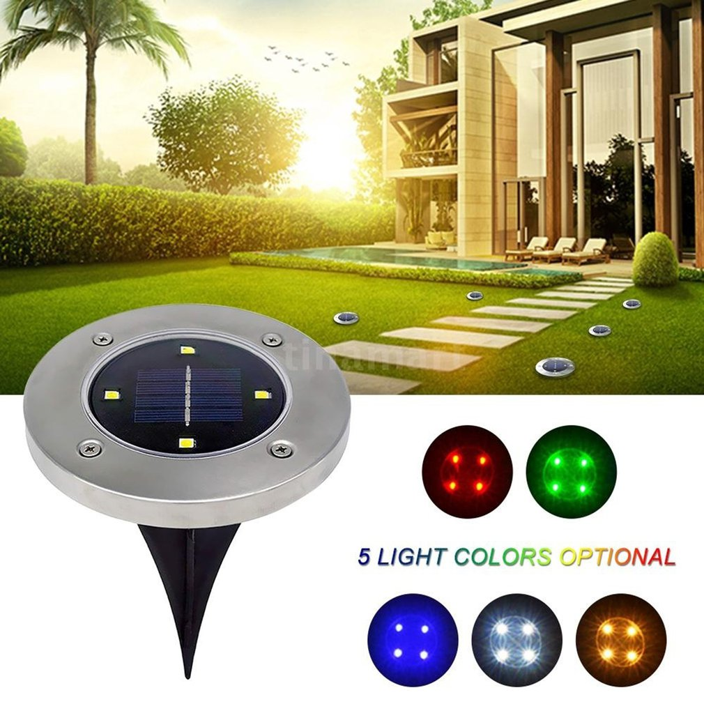 8Pcs 8LED Solar Power Buried Light Under Ground Lamp Outdoor Path Garden Decking
