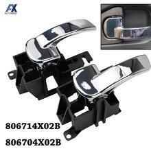 Manija de puerta Interior de coche, cubierta de cerradura de perilla Interior, delantero trasero izquierdo derecho, para Nissan Navara D40 Pathfinder R51 806714X02B 806704X02B