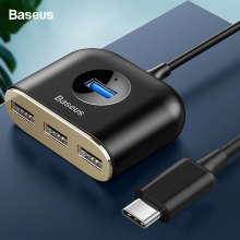 цена на Baseus USB HUB USB 3.0 USB C HUB for MacBook Pro Surface USB Type C HUB USB 2.0 Adapter with Micro USB for Computer USB Splitter