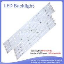 "LED Backlight Strip 9 หลอดไฟสำหรับ LG 47 ""ทีวี Innotek DRT 3.0 47"" 47LB6300 47GB6500 47LB652V 47lb650v LC470DUH 47LB5610 47LB565V"