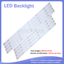 "Led Backlight Strip 9 Lamp Voor Lg 47 ""Tv Innotek Drt 3.0 47"" 47LB6300 47GB6500 47LB652V 47lb650v LC470DUH 47LB5610 47LB565V"