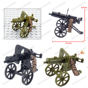 Maxine Heavy Machine Figures Gun Military Weapons World War 2 Building Block Assemble Army Model Christmas Gifts Educational Toy