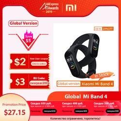 Versión Global Xiaomi mi Band 4 banda inteligente Fitness Tracker pulsera ritmo cardíaco pantalla colorida mensaje instantáneo 135mAh