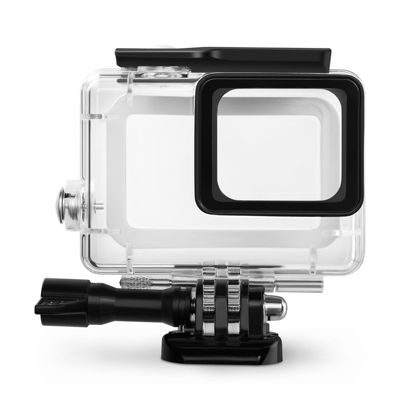 Waterproof Housing for GoPro Hero (2018)/6/5, Underwater Protective Case Shell 45M with Quick Release Bracket & Thumbscrew for G image