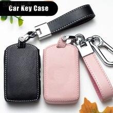 Neue Leder Auto Schlüssel Fall Abdeckung Für Volvo S60 S80 S90 V90 XC40 XC60 XC70 XC90 S60L V40 V60 Keyless eintrag Smart Remote Zubehör