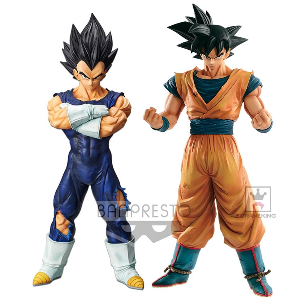 Tronzo Original Banpresto Dragon Ball Super Grandista ROS Vegeta Goku Black Hair PVC Action Figure Model GROS DBZ SSJ Toys GiftsAction & Toy Figures   -