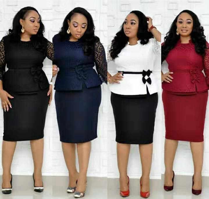2019 новые элегантные модные стильные африканские женские красивые платья размера плюс L-4XL