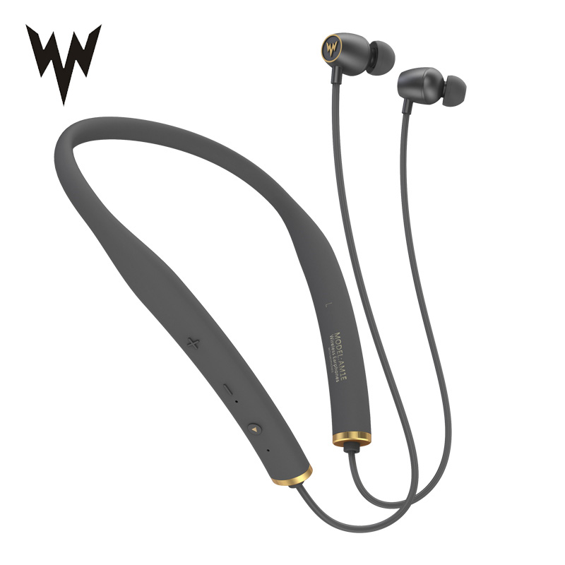 Whizzer AM1E HiFi Wireless Bluetooth Earphones Waterproof Neckband With Mic Control For Android IOS 15hrs Working Sport Headset