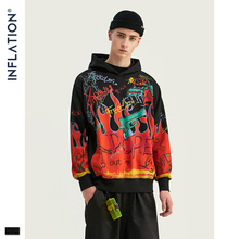 INFLATION DESIGN Men Hoodies With Graffiti Graphic Print Ove
