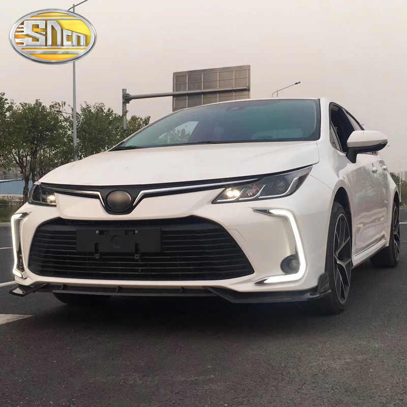 Luces LED de circulación diurna para Toyota Corolla 2019 2020 DRL amarillo luz antiniebla del parachoques delantero cubierta impermeable
