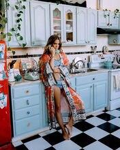 Женская одежда Пляжная накидка с винтажным цветочным принтом