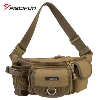цена на Piscifun Fishing Bag Multifunctional Outdoor Waist Bag Portable Lure Waist Pack Messenger Bag Pole Package Fishing Tackle Bag