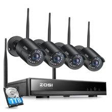 ZOSI – caméra Bullet IP NVR 1080P, 2mp, 8CH, système de vidéosurveillance sans fil, H.265, Wi-Fi, Kits de sécurité