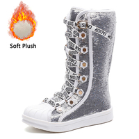 2019 Girls Boots Sequins Child Shoes Kids Breathable Snow Boots Girls Children Rubber Bottom Fashion Winter Boots Baby Bota
