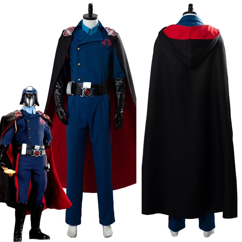 G.I.Joe Cobra Commander Cosplay Costume with cloak custom made tailored