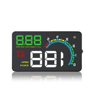 "Image 5 - HUD D3000 4 ""GPS 속도계 자동차 헤드 업 디스플레이 다기능 디지털 속도 고도계 보안 알람 HUD 헤드 업 디스플레이"