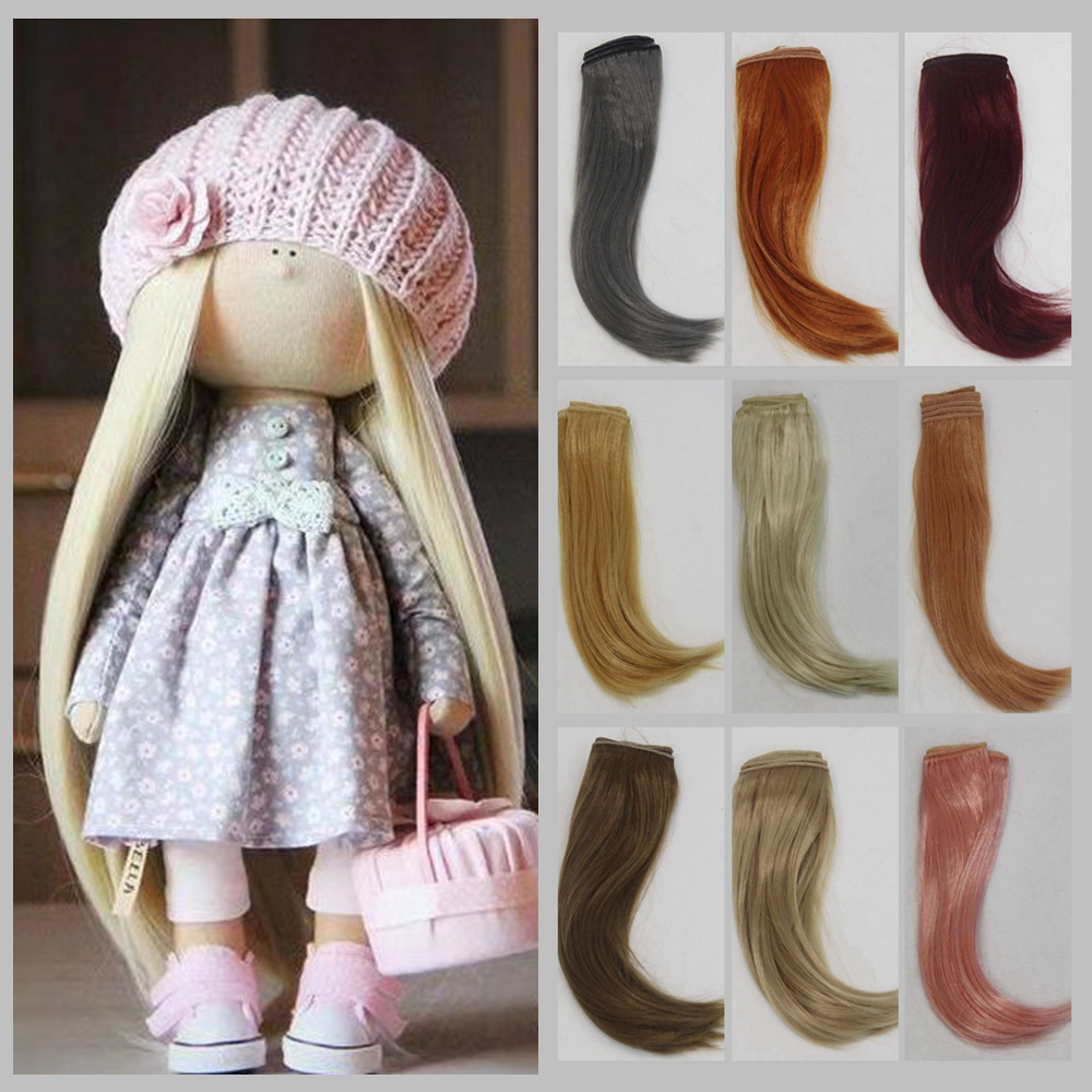 Synthetic Fiber Doll Hair Extension 25*100cm Natural Color Curly Doll Hair DIY Russian Handmade Clothing Doll Wigs Accessories