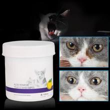 100 шт./компл. влажные салфетки для глаз домашних животных не запутывающие чистящие салфетки для ухода и чистки бумажные полотенца для кошек, собак, разрывных пятен, мягкое средство для удаления