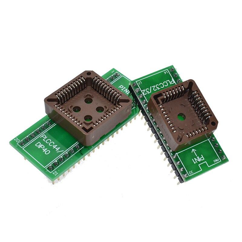 PLCC32 To DIP32 PLCC44 To DIP40 USB Universal Programmer IC Adapter Tester Socket For TL866CS TL866A EZP2010 G540 SP300