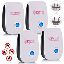 6 4 pcs Home Ultrasonic Electronic Anti Mosquito Insect Rat Mouse Cockroach Pest Repellent Repeller Killing Pests EU UK US Plug